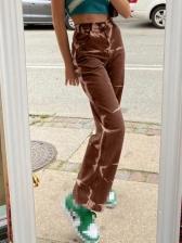 Streetwear Tie Dye Straight High Waisted Jeans