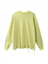 Loose Solid Casual Autumn Long Sleeve Sweatshirt