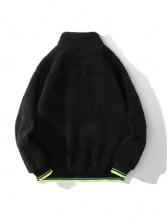 Winter Thicker Polar Fleece Zipper Hip Hop Jacket Coat