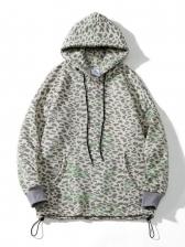 Hip Hop Style Retro Leopard Printed Plush Hoodie