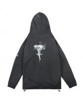 Printed Casual Winter Plush Thicker Versatile Hoodie