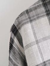 Casual Plaid Long Sleeve Blouse Fall