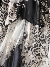 Fashion Loose Print Long Sleeve Shirt Dress