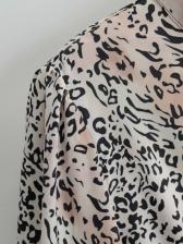 Casual Animal Print Long Sleeve Maxi Dress