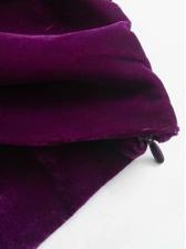 Fashion Solid Velvet Pullover Blouse