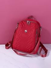 Korea Zipper Design School Backpacks