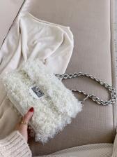 Winter Plush Chain Shoulder Bags