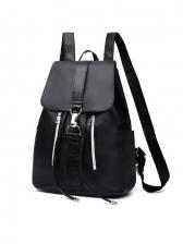 Korea New Black Oxford Backpack