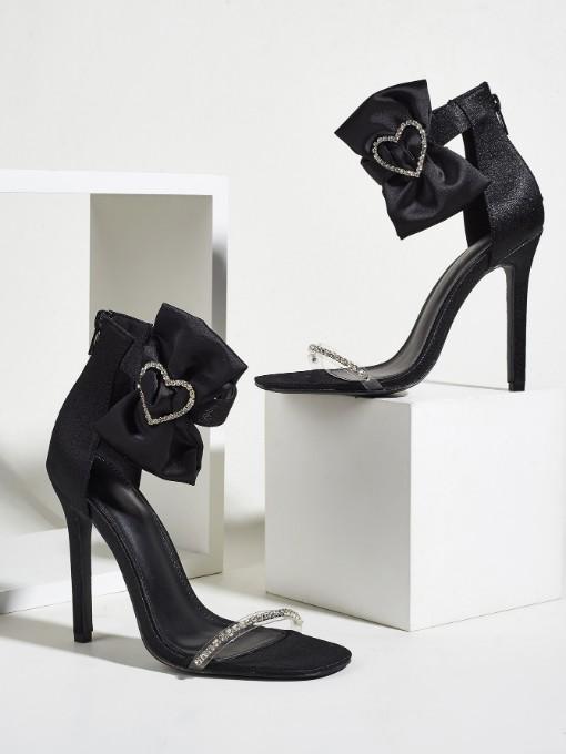 New Design Heart Rhinestone High Heel Ladies Sandal