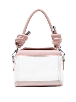 PVC Transparent Square Crossbody Shoulder Bag
