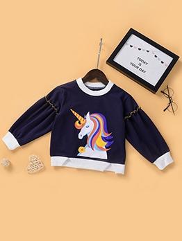 Fall Cartoon Print Designer Sweatshirt