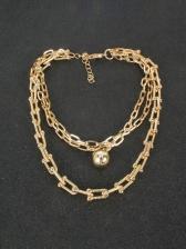 Simple Hip Hop Street Women Necklace