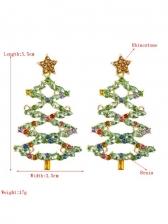 Christmas Tree Full Rhinestone Party Women Earrings