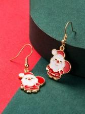 Cute Santa Claus Shape Women Christmas Earrings
