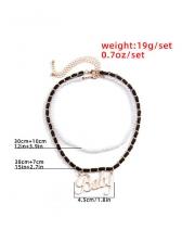 Simple Letter Pendant Necklace For Women