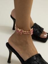 Hip Hop Stylish Full Rhinestone Thick Anklets