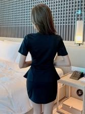 Sexy Club Top With Dress Set