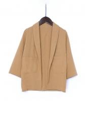 Fashion Solid Cardigan Kids Coats