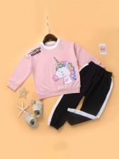 Cute Cartoon Print Girls Outfit Sets