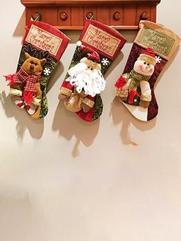 Christmas Sock Gift Bag Children Hang Candy Bag