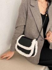 New Arrivals Lambswool Patchwork Crossbody Shoulder Bag