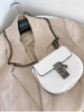 Vintage Stone Pattern Chain Saddle Bag
