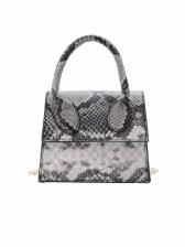 Fashion Snake Print Small Chain Shoulder Bag