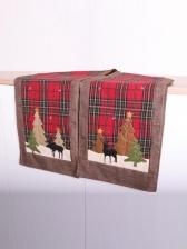 Tea Table Cover Elk Printing Christmas Decoration