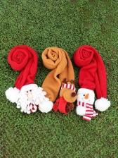Winter Warm Female Cute Christmas Scarves