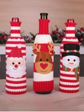 Christmas Ornament Knitting Wine Bottle Cover