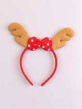 Cute Non-Woven Fabric Antlers Christmas Hair Hoop