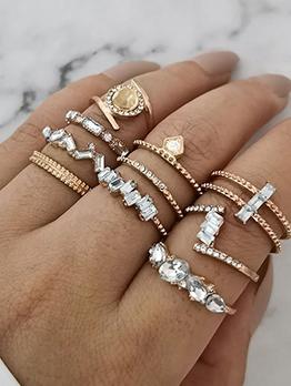 Personality Fashion Rhinestone Ring Sets