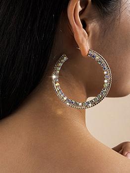 Fashion Rhinestone C-Shape Vintage Earrings