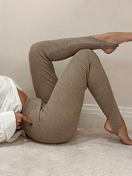 Pure Color Skinny High Waisted Yoga Pants