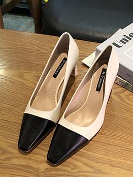 OL Style Color Block Women High Heels