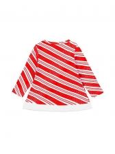 Striped Print Long Sleeve Girls Set For Christmas