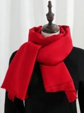 Casual Versatile Winter Thicker Solid Shawls