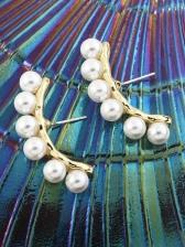 Create Geometry Faux-Pearl Elegant Earrings