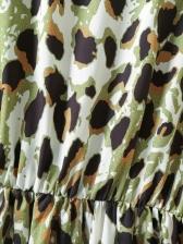 Fashion Leopard Print Long Sleeve Dress