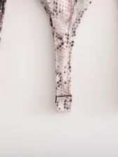 Sexy Snake Print Long Sleeve Bodysuit
