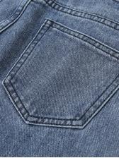 New High Waist Houndstooth Denim Pants