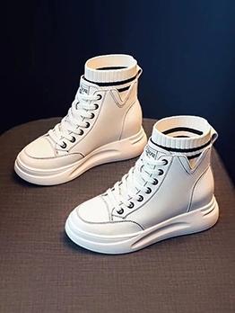 Stylish Height Increasing Women Combat Boots