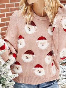 New Santa Claus Knitting Christmas Sweater