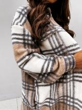 Retro Plaid Single-Breasted Long Coat