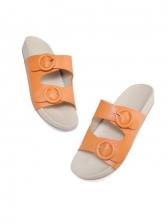 Open Round Toe Slip On Slides Slippers