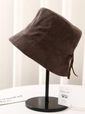 Autumn Corduroy Solid Leisure Art Bucket Hat