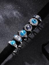 Stylish Irregular Rhinestone 11 Pieces Ring Set