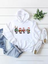 Cute Christmas Print Hoodie For Women