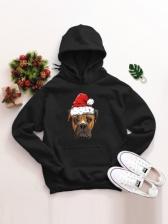 Merry Christmas Print Design Hoodie