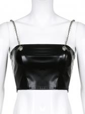 Sexy Chain Zipper Tank Top Women